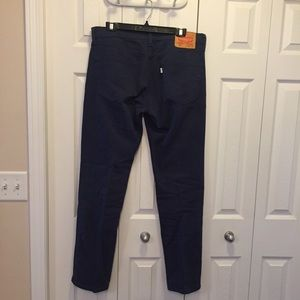 Levi's Style 511 Navy Blue White Tab Jeans